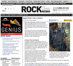 Rock and Ice Magazine Online
